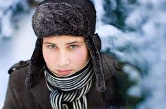 Man in winter Royalty Free Stock Photos