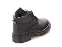 Man winter black boot. Royalty Free Stock Photography