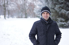 Man with winter clothes Royalty Free Stock Images
