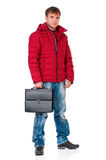 Man in winter clothing Stock Photo