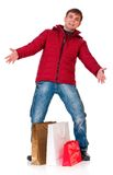 Man in winter clothing Royalty Free Stock Photography