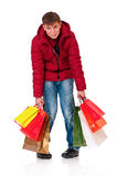 Man in winter clothing Royalty Free Stock Photos