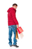 Man in winter clothing Royalty Free Stock Images