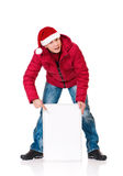Man in winter clothing Stock Images