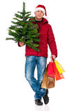Man in winter clothing Stock Photography