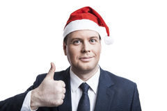 Man in Winter Hat delighted Royalty Free Stock Image