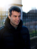 Man in winter jacket Stock Photography