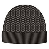 Man winter knitted cap. Design pattern hats. Knit geometry caps, jacquard, fashion, style, trend Royalty Free Stock Images
