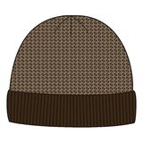 Man winter knitted cap. Design pattern hats. Knit geometry caps, jacquard, fashion. Stock Photography