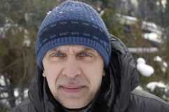 Man In Winter Stock Images
