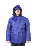 Man in winter workwear. Stock Photo