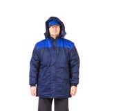 Man in winter workwear. Isolated on a white background Royalty Free Stock Images