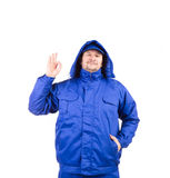 Man in winter workwear. Stock Photos