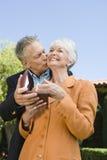 Man Wishing Woman On Birthday Stock Photography