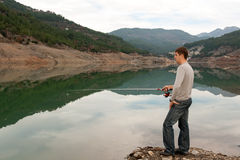 Man With A Fishing Stock Image