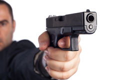 Free Man With A Gun Royalty Free Stock Images - 27241279