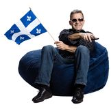Man With A Quebec Flag Royalty Free Stock Images