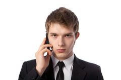Man With A Telephone Royalty Free Stock Image