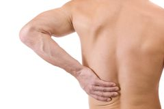 Man With Back Pain Stock Image
