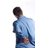 Man With Back Pain Stock Photo