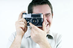 Man With Camera. Royalty Free Stock Photography