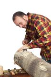 Man With Chisel Royalty Free Stock Images