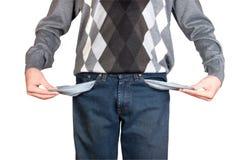 Man With Empty Pockets Stock Photo