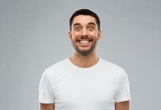 Free Man With Funny Face Over Gray Background Stock Photos - 70245043
