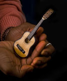 Man With Guitar In Hands Stock Photos