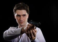 Man With Gun Stock Photography