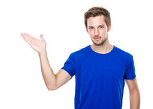 Free Man With Hand Present Stock Photography - 44547332