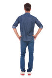 Man With Hands On Hips From Back Stock Image