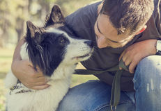 Free Man With His Dog Royalty Free Stock Photos - 46622808