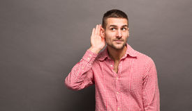 Free Man With His Hand To Ear Stock Images - 65966594
