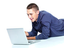 Free Man With Laptop Royalty Free Stock Photos - 16500518
