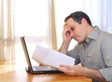 Man With Laptop Stock Photo