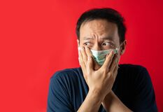 Free Man With Mask Fear Virus Infect And Pollution Royalty Free Stock Photo - 174123065