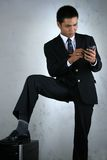 Man With Mobile Device Stock Images