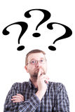 Man With Question Mark Royalty Free Stock Image