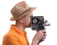 Man With Retro Camera Royalty Free Stock Image