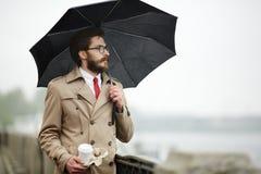 Free Man With Umbrella Royalty Free Stock Image - 97169696