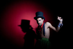 Free Man With Whip In Top Hat Stock Images - 17140504