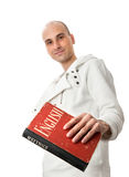 Man witn an English Dictionary Stock Photography
