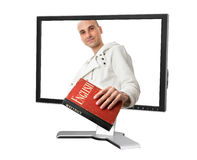Man witn an English Dictionary Royalty Free Stock Photography