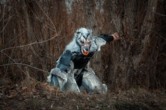 Man wolf werewolf terrible. Royalty Free Stock Photo