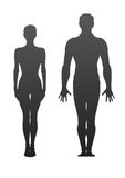 Man and woman. Vector silhouettes of man and woman Royalty Free Stock Photos