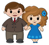 Man and woman. Illustration of a man and woman Stock Image
