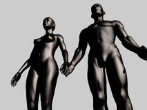 Man and woman. Holding hands Royalty Free Stock Image