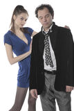 Man and woman. Employee work calms officer- together portrait Royalty Free Stock Image