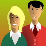 Man and woman. Vector illustration of young family stock illustration